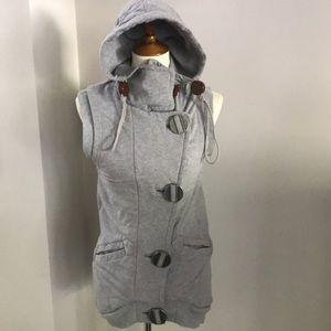 L.A.M.B. Gwen Stefani fleece lined hooded vest S